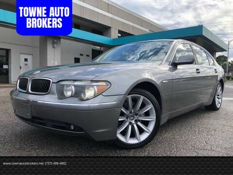 2004 BMW 7 Series for sale at TOWNE AUTO BROKERS in Virginia Beach VA