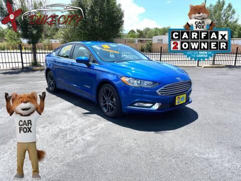 2018 Ford Fusion Hybrid for sale at DUKE CITY AUTO SALES in Albuquerque NM