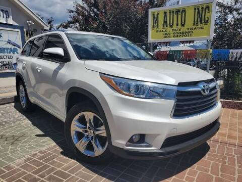 2015 Toyota Highlander for sale at M AUTO, INC in Millcreek UT