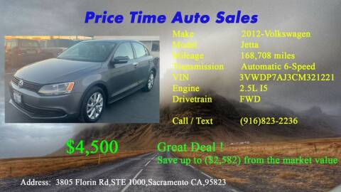 2012 Volkswagen Jetta for sale at PRICE TIME AUTO SALES in Sacramento CA
