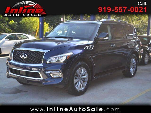 2017 Infiniti QX80 for sale at Inline Auto Sales in Fuquay Varina NC