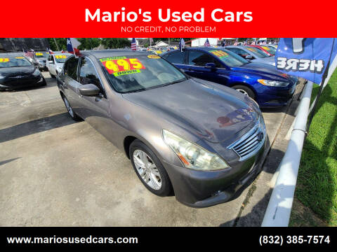 2011 Infiniti G37 Sedan for sale at Mario's Used Cars - South Houston Location in South Houston TX