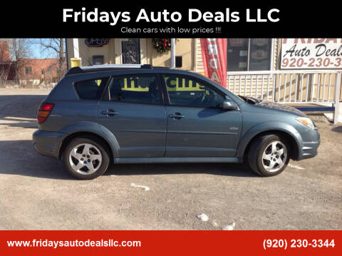 2007 Pontiac Vibe for sale at Fridays Auto Deals LLC in Oshkosh WI