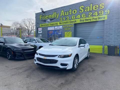 2017 Chevrolet Malibu for sale at Friendly Auto Sales in Detroit MI