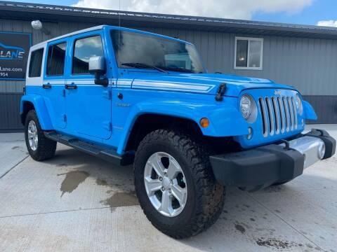 2017 Jeep Wrangler Unlimited for sale at FAST LANE AUTOS in Spearfish SD