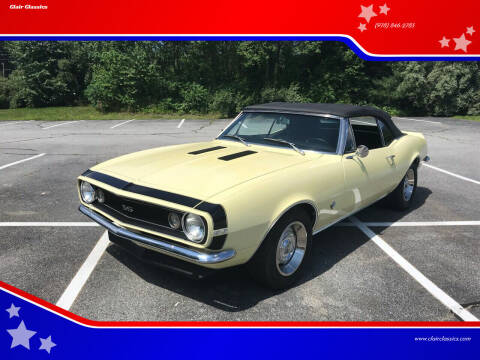 1967 Chevrolet Camaro for sale at Clair Classics in Westford MA