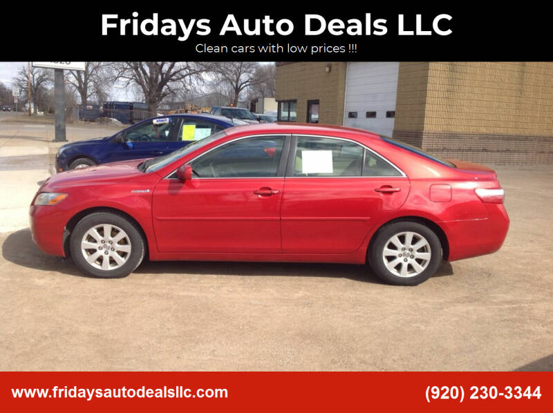2009 Toyota Camry Hybrid for sale at Fridays Auto Deals LLC in Oshkosh WI