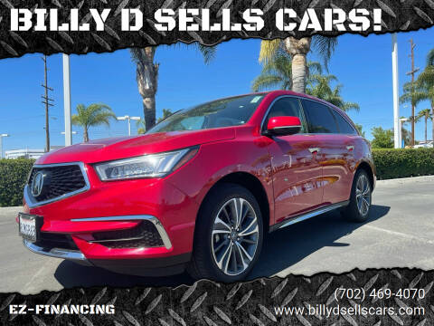 2019 Acura MDX for sale at BILLY D SELLS CARS! in Temecula CA