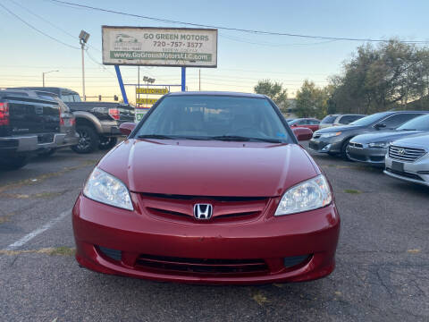 2004 Honda Civic for sale at GO GREEN MOTORS in Lakewood CO