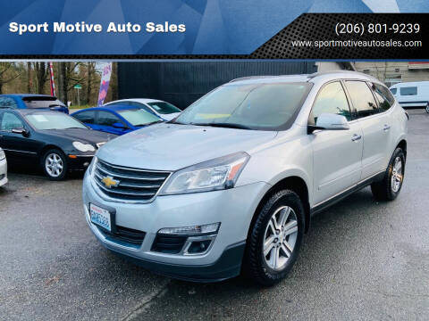 2015 Chevrolet Traverse for sale at Sport Motive Auto Sales in Seattle WA