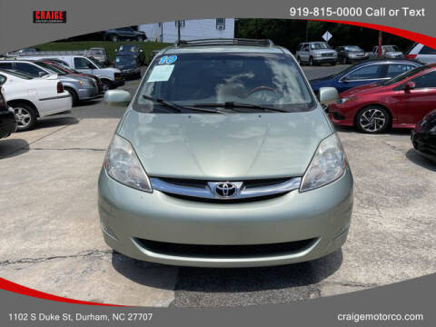 2010 Toyota Sienna for sale at CRAIGE MOTOR CO in Durham NC