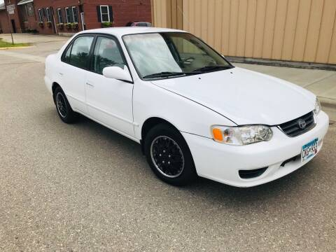 2001 Toyota Corolla for sale at MINNESOTA CAR SALES in Starbuck MN