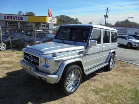 2002 Mercedes-Benz G-Class for sale at Atlanta Fine Cars in Jonesboro GA