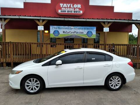 2012 Honda Civic for sale at Taylor Trading Co in Beaumont TX