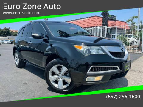 2010 Acura MDX for sale at Euro Zone Auto in Stanton CA