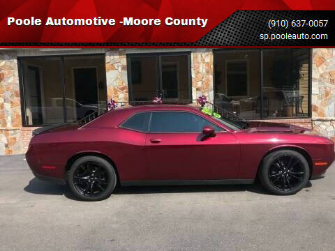 2018 Dodge Challenger for sale at Poole Automotive in Laurinburg NC