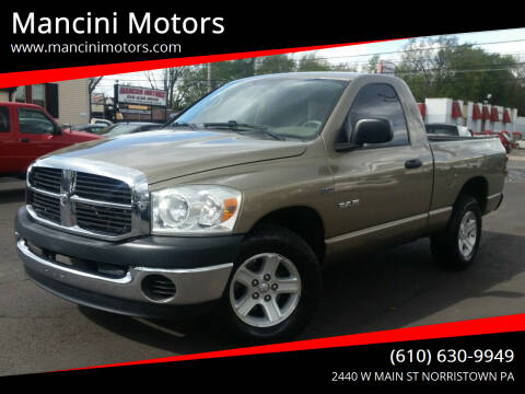 2008 Dodge Ram Pickup 1500 for sale at Mancini Motors in Norristown PA