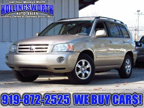 2006 Toyota Highlander for sale at Hollingsworth Auto Sales in Raleigh NC