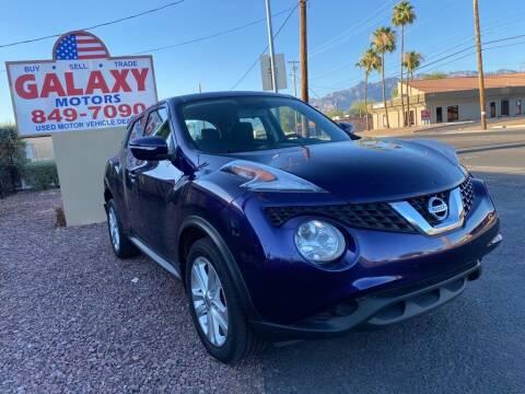 2015 Nissan JUKE for sale at GALAXY MOTORS in Tucson AZ