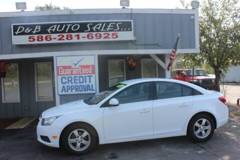2014 Chevrolet Cruze for sale at D & B Auto Sales LLC in Washington MI