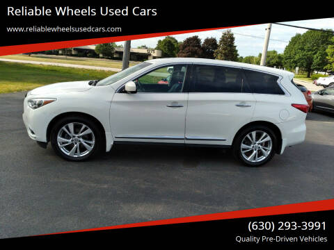 2013 Infiniti JX35 for sale at Reliable Wheels Used Cars in West Chicago IL