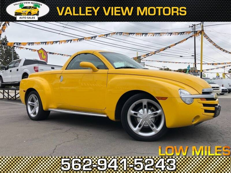 2003 Chevrolet SSR for sale at Valley View Motors in Whittier CA