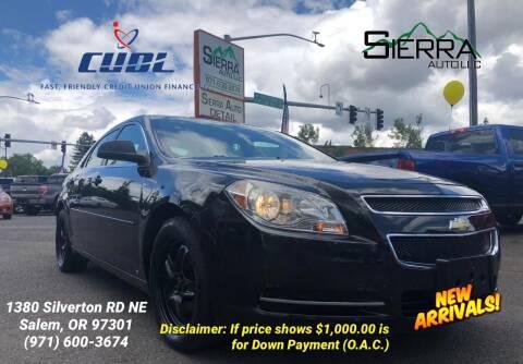 2009 Chevrolet Malibu for sale at SIERRA AUTO LLC in Salem OR