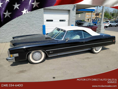 1973 Cadillac Eldorado for sale at Motor City Direct Auto Sales & Service in Pontiac MI