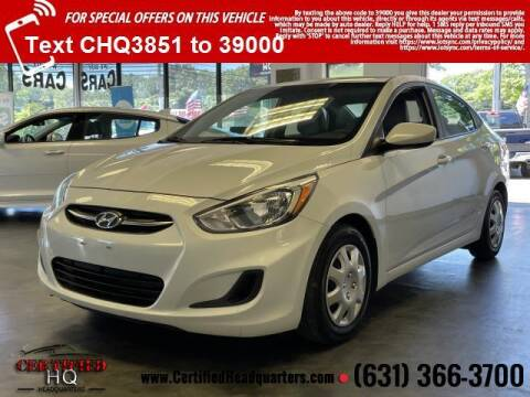 2017 Hyundai Accent for sale at CERTIFIED HEADQUARTERS in Saint James NY