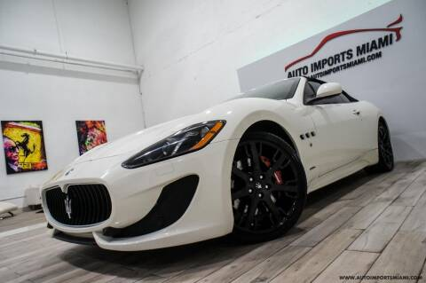 2015 Maserati GranTurismo for sale at AUTO IMPORTS MIAMI in Fort Lauderdale FL