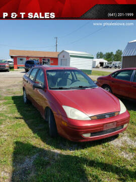2002 Ford Focus for sale at P & T SALES in Clear Lake IA