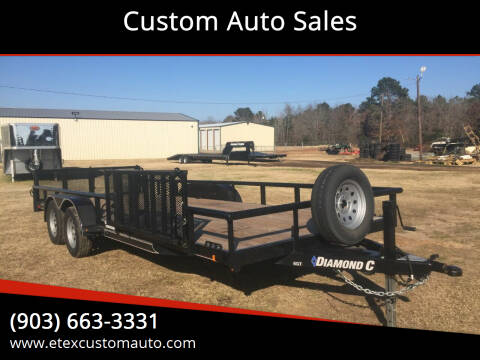 2019 Diamond C 7x20 Utility Trailer for sale at Custom Auto Sales - TRAILERS in Longview TX
