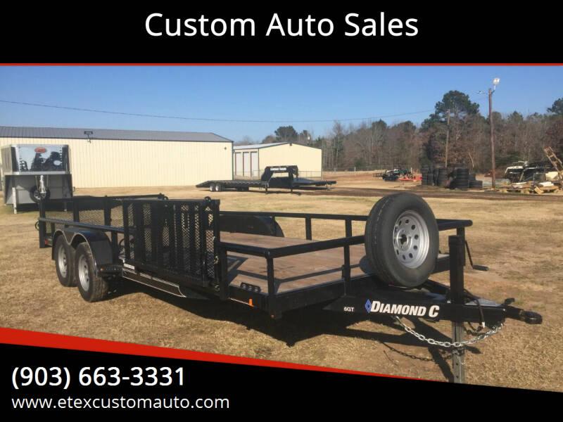 2019 Diamond C 7x20 Utility Trailer for sale at Custom Auto Sales - TRAILERS in Longview TX