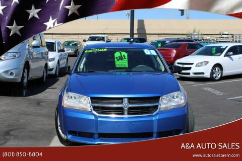 2008 Dodge Avenger for sale at A&A Auto Sales in Orem UT