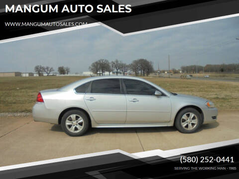 2012 Chevrolet Impala for sale at MANGUM AUTO SALES in Duncan OK