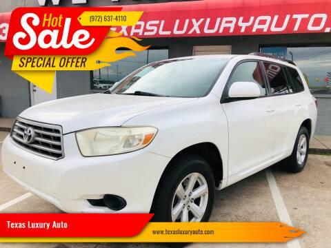 2008 Toyota Highlander for sale at Texas Luxury Auto in Cedar Hill TX