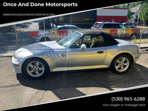 2000 BMW Z3 for sale at Once and Done Motorsports in Chico CA