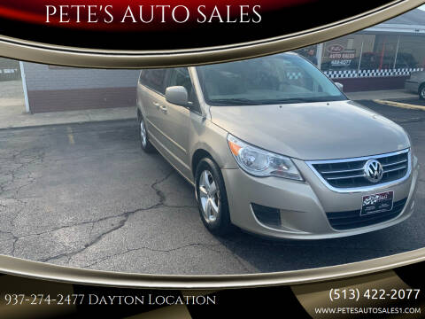 2009 Volkswagen Routan for sale at PETE'S AUTO SALES - Dayton in Dayton OH
