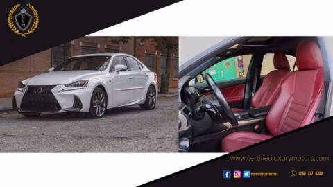 2018 Lexus IS 300 for sale at Certified Luxury Motors in Great Neck NY