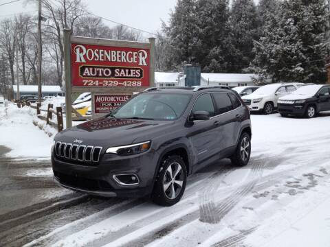 2019 Jeep Cherokee for sale at Rosenberger Auto Sales LLC in Markleysburg PA