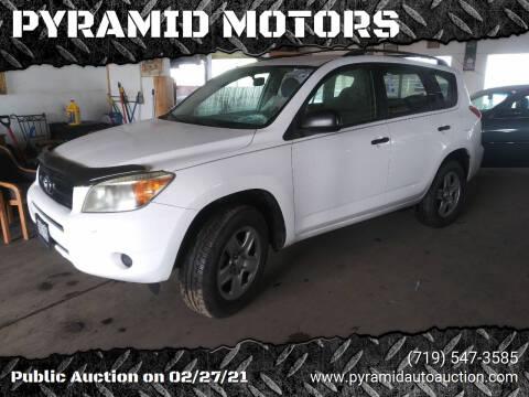 2007 Toyota RAV4 for sale at PYRAMID MOTORS - Pueblo Lot in Pueblo CO