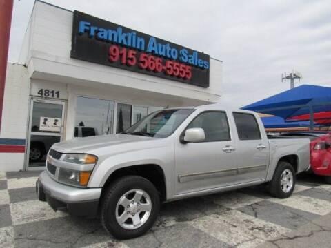 2012 Chevrolet Colorado for sale at Franklin Auto Sales in El Paso TX