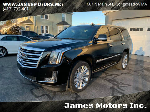 2016 Cadillac Escalade for sale at James Motors Inc. in East Longmeadow MA