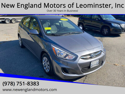 2017 Hyundai Accent for sale at New England Motors of Leominster, Inc in Leominster MA