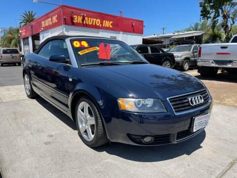 2004 Audi A4 for sale at 3K Auto in Escondido CA