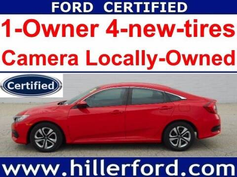 2017 Honda Civic for sale at HILLER FORD INC in Franklin WI