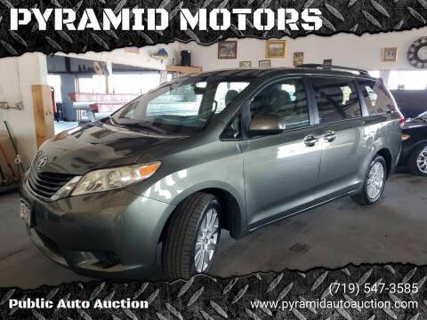 2013 Toyota Sienna for sale at PYRAMID MOTORS - Pueblo Lot in Pueblo CO