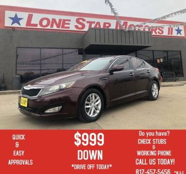2013 Kia Optima for sale at LONE STAR MOTORS II in Fort Worth TX