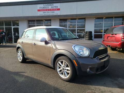 2012 MINI Cooper Countryman for sale at Landes Family Auto Sales in Attleboro MA