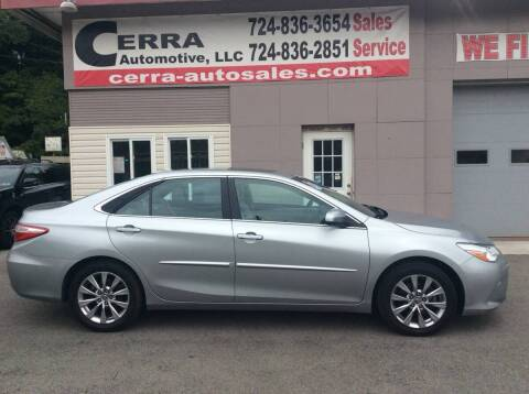 2015 Toyota Camry for sale at Cerra Automotive LLC in Greensburg PA